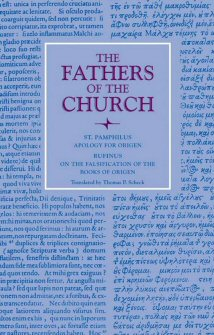 Apology for Origen: With the Letter of Rufinus on the Falsification of the Books of Origen