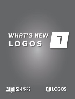 MP Seminars: Logos 7 What's New?