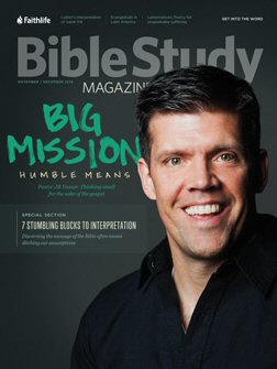 Bible Study Magazine—November–December 2016 Issue
