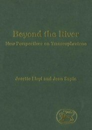 Beyond the River: New Perspectives on Transeuphratene