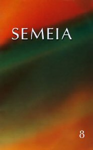 Semeia 8: Literary Critical Studies of Biblical Texts