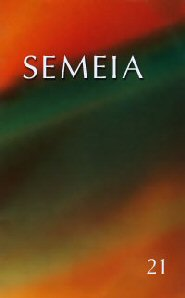 Semeia 21: Anthropological Perspectives on Old Testament Prophecy