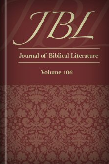 The Journal of Biblical Literature, vol. 106