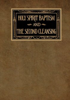 Holy Spirit Baptism and The Second Cleansing