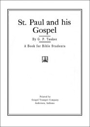 St. Paul and His Gospel