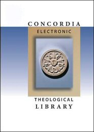Concordia Electronic Theological Library: Collection 5 (3 vols.)