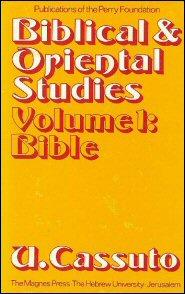 Biblical and Oriental Studies, vol. 1