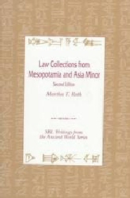 Law Collections from Mesopotamia and Asia Minor (Translations)