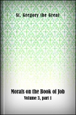 Morals on the Book of Job, Volume 3