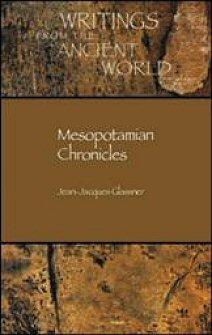 Mesopotamian Chronicles (Texts)