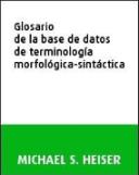 Glosario de la base de datos de terminología morfológica-sintáctica