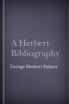 A Herbert Bibliography