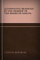 Alternative Readings in the Hebrew of the Books of Samuel