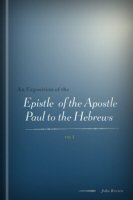 An Exposition of the Epistle of the Apostle Paul to the Hebrews, vol. 1