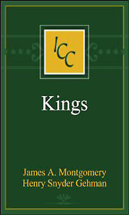 A Critical and Exegetical Commentary on the Books of Kings (ICC)
