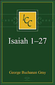 A Critical and Exegetical Commentary on Isaiah 1-27 (ICC)
