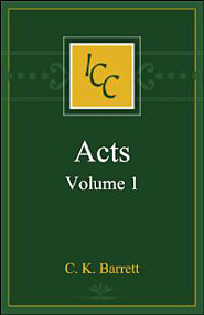 Acts, Vol. 1 (International Critical Commentary Series | ICC)