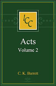 Acts, Vol. 2 (International Critical Commentary Series | ICC)