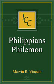A Critical and Exegetical Commentary on the Epistles to the Philippians and to Philemon (ICC)