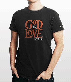 Bible Verse T-shirt: God Is Love (1 John 4:8)