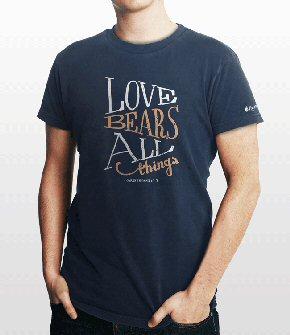 Bible Verse T-shirt: 1 Corinthians 13:7