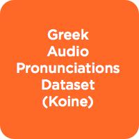 Greek Pronunciations Dataset (Koine)