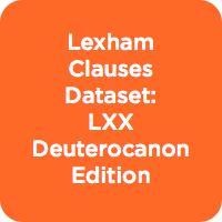Lexham Clauses  Dataset: LXX Deuterocanon Edition