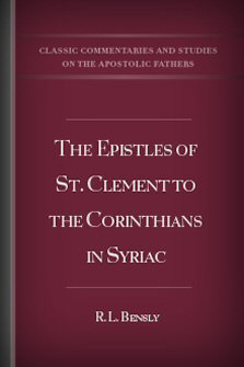 The Epistles of St. Clement to the Corinthians in Syriac