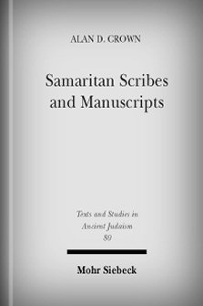 Samaritan Scribes and Manuscripts