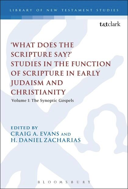 'What Does the Scripture Say?' Studies in the Function of Scripture in Early Judaism and Christianity, Volume 1: The Synoptic Gospels