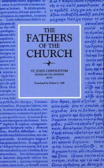 John Chrysostom: Homilies on Genesis 46–67
