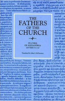 Cyril of Alexandria: Letters 51–110