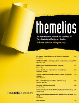 Themelios: Volume 40, No. 2, August 2015