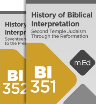 Mobile Ed: History of Biblical Interpretation Bundle (2 courses)
