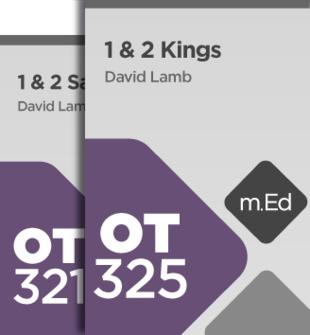 Mobile Ed: Kings of Israel Bundle (2 Courses)