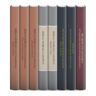 German Bible Society Bundle: Core Greek and Hebrew Texts (8 vols.)