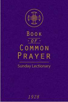 Book of Common Prayer (1928) Sunday Lectionary