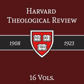 Harvard Theological Review (16 vols.) (1908–1923)