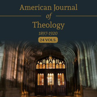 American Journal of Theology (24 vols.)