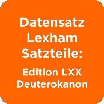 Datensatz Lexham Satzteile: Edition LXX Deuterokanon