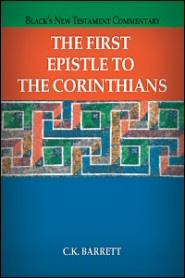 Black's New Testament Commentary: The First Epistle to the Corinthians (BNTC)