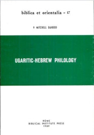Ugaritic-Hebrew Philology
