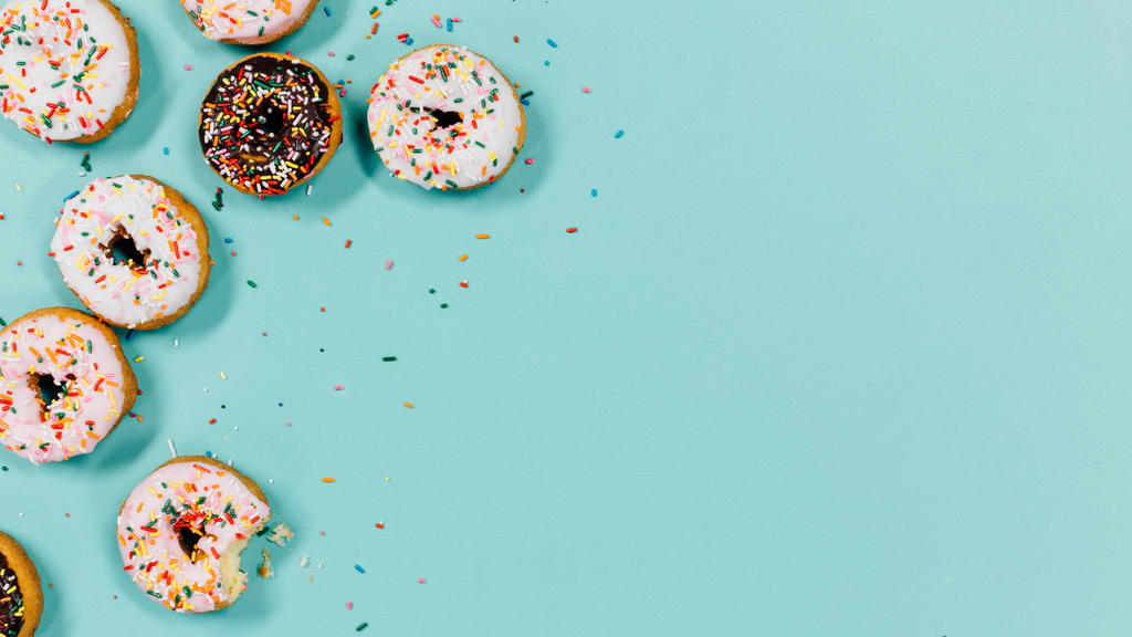 Frosted donuts with sprinkles large preview
