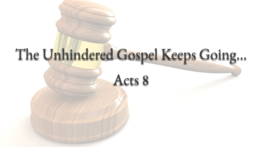 The Unhindered Gospel continues...