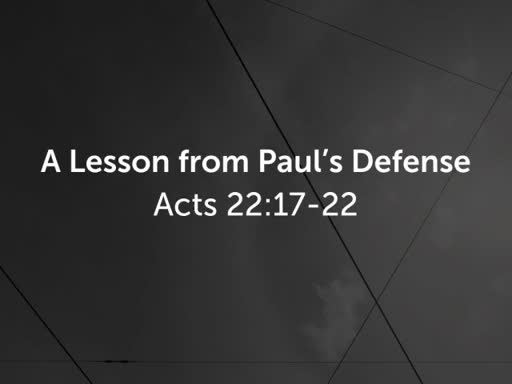 A Lesson from Paul's Defense