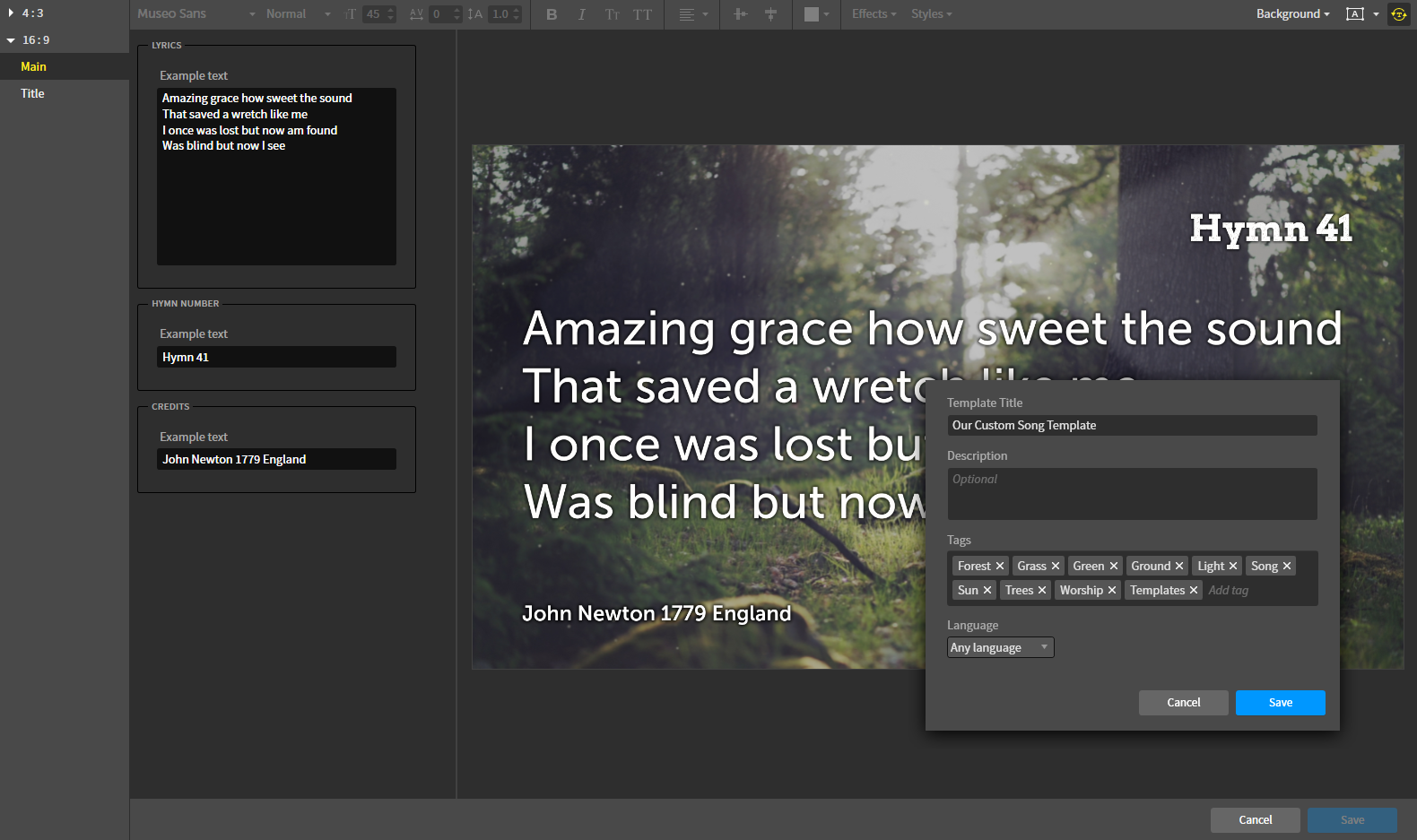 How do i create my own smart media templates faithlife to make a smart media template from existing media go to media browse media choose an image from your group uploads or other media then click customize maxwellsz