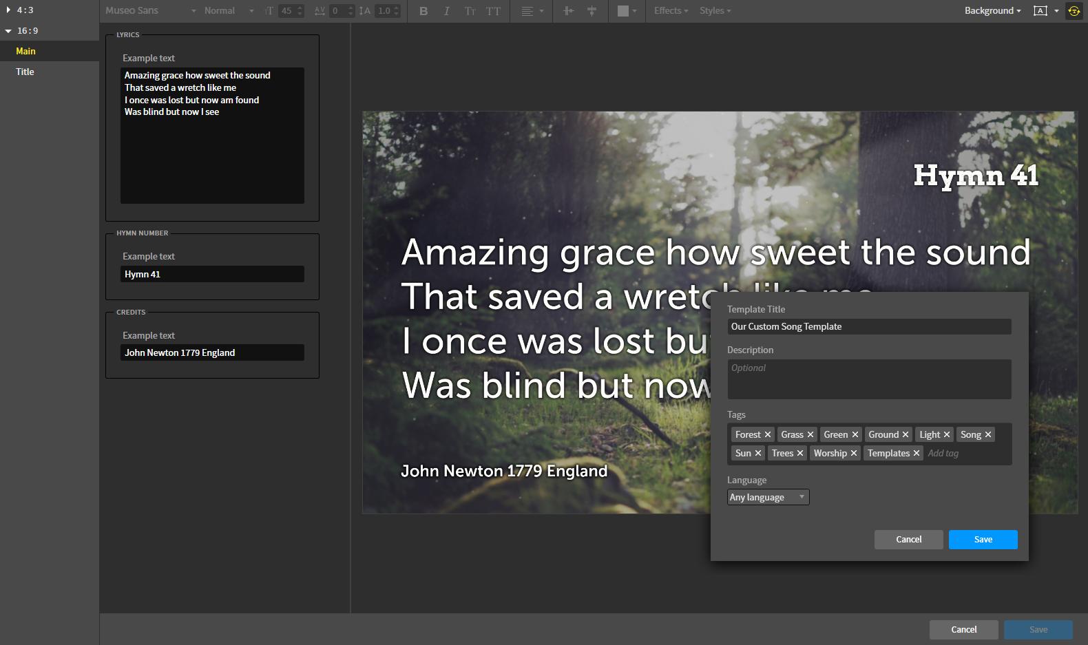 How do I create my own Smart Media templates? – Proclaim