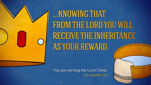 Colossians 3:24 verse of the day image