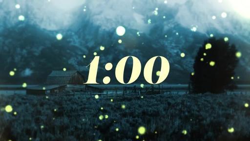 Summer Night Fireflies - Countdown 1 min