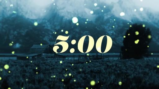 Summer Night Fireflies - Countdown 5 min